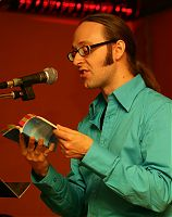 Patrick M. Pilarski reading at the launch of his new collection Huge Blue, Sept. 2009.