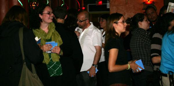 Huge Blue launch party, Sept. 2009.